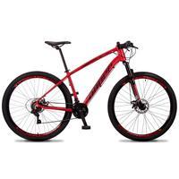 Bicicleta Aro 29 Dropp Tx 21v Shimano, Suspensão E Freio Disco - Vermelho/preto - 17´´ - 17´´