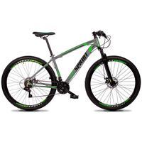 Bicicleta Aro 29 Gt Sprint Volcon 21v Shimano, Freio A Disco - Cinza/verde E Preto - 17´´ - 17´´