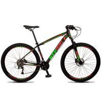 Bicicleta Aro 29 Gt Sprint Volcon 21v Shimano, Freio A Disco - Preto/vermelho E Verde - 15´´ - 15´´