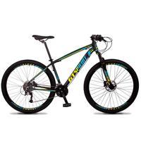 Bicicleta Aro 29 Gt Sprint Volcon 21v Shimano, Freio A Disco - Preto/azul E Amarelo - 15´´ - 15´´