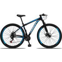 Bicicleta Aro 29 Dropp Aluminum 21v Suspensão, Freio A Disco - Preto/azul E Branco - 15