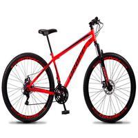 Bicicleta Aro 29 Dropp Sport 21v Suspensão E Freio A Disco - Vermelho/preto - 17´´ - 17´´