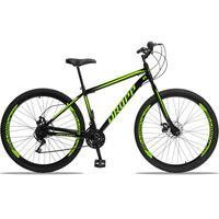 Bicicleta Aro 29 Dropp Sport 21v Garfo Rigido, Freio A Disco - Preto/amarelo - 19''
