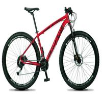 Bicicleta Aro 29 Dropp Rs1 Pro 21v Tourney Freio Disco/trava - Vermelho/preto - 19