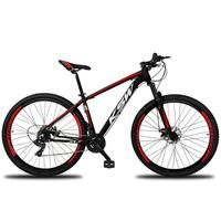Bicicleta Aro 29 Ksw Xlt 21 Marchas Shimano Freio Hidraulico - Preto/vermelho E Branco - 17´´ - 17´´