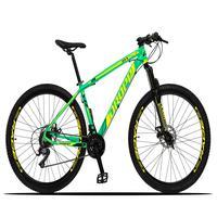 Bicicleta Aro 29 Dropp Z3x 21v Suspensão E Freio Disco - Verde/amarelo - 17´´ - 17´´