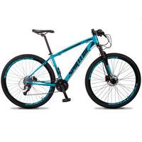 Bicicleta Aro 29 Spaceline Vega 27v Suspensão E Freio Hidral - Azul/preto - 17´´ - 17´´