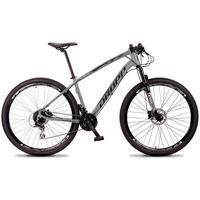 Bicicleta Aro 29 Dropp Tx 24v Acera, Susp E Freio Hidraulico - Cinza/preto - 17´´ - 17´´