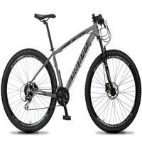 Bicicleta Aro 29 Dropp Rs1 Pro 24v Acera Freio Hidra E Trava - Cinza/preto - 17''