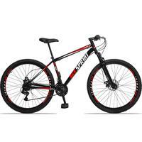 Bicicleta Aro 29 Gt Sprint Mx1. 21v Freio Disco E Suspensão - Preto/vermelho E Branco - 17´´ - 17´´