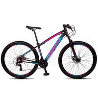 Bicicleta Aro 29 Dropp Z4x 24v Suspensão E Freio A Disco - Preto/azul E Rosa - 17
