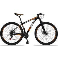 Bicicleta Aro 29 Gt Sprint Mx1 21v Suspensão E Freio A Disco - Preto/laranja E Branco - 19