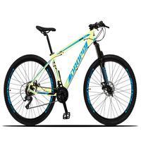 Bicicleta Aro 29 Dropp Z3x 21v Suspensão E Freio Disco - Bege/azul - 21