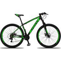 Bicicleta Aro 29 Dropp Z3 21v Shimano, Suspensão Freio Disco - Preto/verde - 21´´ - 21´´