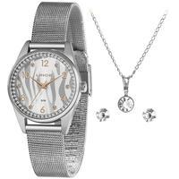 Kit Relógio Lince Feminino Preta Lrmj137l Kz50s2sx Semi-joia
