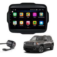 "Multimídia Jeep Renegade Longitude 2015 2016 2017 2018 2019 Aikon Atom Basic Two Tela 9"" Quad Core 2gb Android Gps Câmera De Ré E Frontal Tv Digital"