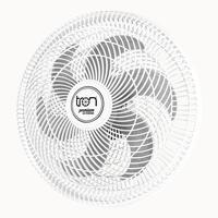 Ventilador Maggie Parede Branco Oscilante 127v Pás Prata