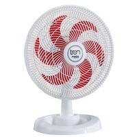 Ventilador Médio Maggie Branco Oscilante 127v Pás Vermelha