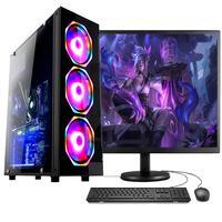 """Computador Gamer Completo Fácil Intel I5 3ª Geração 8gb Gtx 1050ti 4gb Ssd 480gb Fonte 500w Monitor 19"""""""