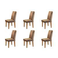 Conjunto Com 6 Cadeiras Athenas Rufato
