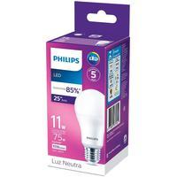 Lâmpada Led Philips 11w Bivolt Luz Branca 4000k Base E27