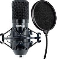 Microfone Condensador Usb Vokal Sv80u Gravação com Pop Filter
