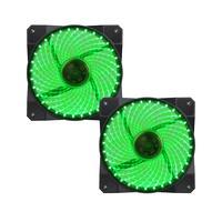 Fan Cooler 32 Led Verde Gamemax Galeforce Gmx-gf12g 2-fan