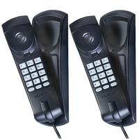 Kit 02 Telefones Com Fio Gôndola Tc 20 Preto Intelbras