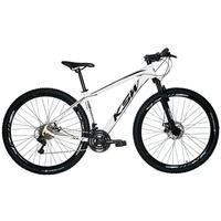 """Bicicleta Aro 29 Ksw 21 Marchas Freios A Disco, K7 E Suspensão Cor: branco/preto, tamanho Do Quadro: 17"""""""