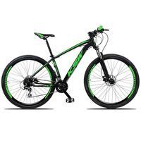 """Bicicleta Aro 29 Ksw 27 Marchas Freio Hidráulico E K7,  Cor: preto/verde, tamanho do Quadro: 21"""""""