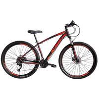 """Bicicleta Aro 29 Ksw 21 Vel Shimano Freios Disco E Trava/k7 Cor: Preto/Laranja E Vermelho, Tamanho Do Quadro:17"""" - 17"""""""