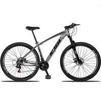 "Bicicleta Aro 29 Ksw Xlt 21 Marchas Shimano Freio Hidraulico - Grafite/preto - 21"""