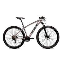 Bicicleta Aro 29 Ksw 24 V Shimano Freio Hidraulico/trava/k7 Cor:grafite/preto tamanho Do Quadro: 17pol - 17pol
