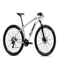 Bicicleta Aro 29 Ksw 21 Marchas Freio Hidráulico E Suspensão Cor: branco/preto tamanho Do Quadro:19  - 19
