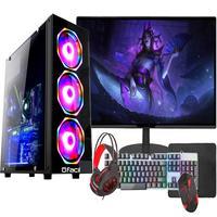 Pc Gamer Completo Fácil, Intel I3 10100f, 16gb, Gtx 750ti 4gb, Ssd 240gb, Monitor 21pol, Fonte 500w
