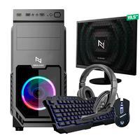 Kit - Pc Gamer Start Nli82877 Amd 320ge 16gb vega 3 Integrado Ssd 240gb + Monitor 19.5