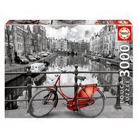 Puzzle 3000 Peças Tarde Em Amsterdam - Educa - Importado