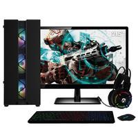 Pc Gamer Completo Amd Athlon 3000g  placa De Vídeo Radeon Vega 3  Monitor 21.5 Full Hd 8gb Ddr4 Ssd 480gb 500w Skill Cool