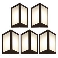 Luminária De Parede Triangular Marrom Kit Com 5